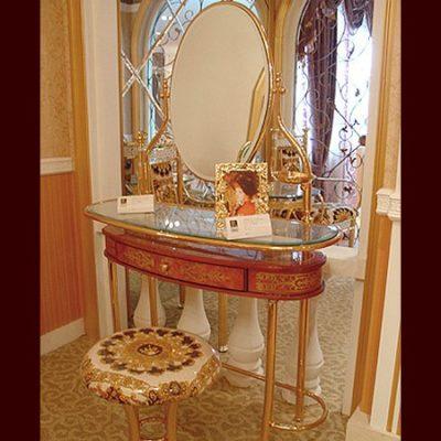 Toaletka z taboretem i lustrem GF-B-04-V