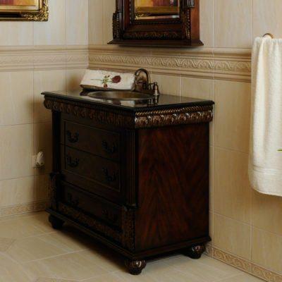 Komoda łazienkowa łącznie z umywalką, kranem K34-S