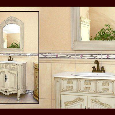K87-SM – Komoda łazienkowa łącznie z umywalką, kranem oraz lustrem