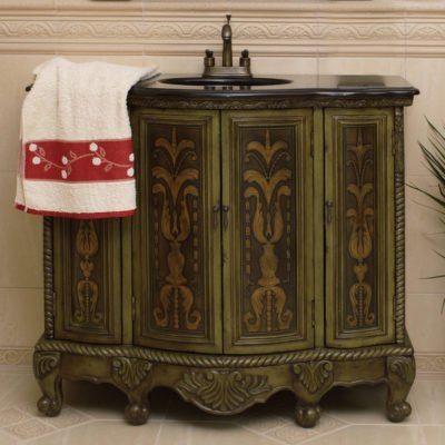Komoda łazienkowa łącznie z umywalką i kranem K284-S